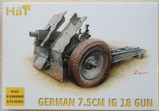 HaT 1/72 HAT8163 German 75mm IG18 Gun (WW2)